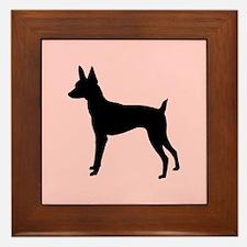 toy fox terrier retro pink Framed Tile