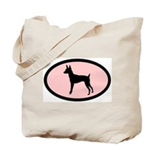toy fox terrier retro pink Tote Bag