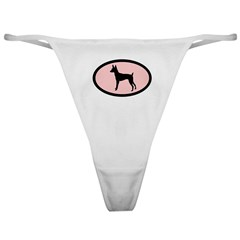 toy fox terrier retro pink Classic Thong