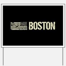 Black Flag: Boston Yard Sign
