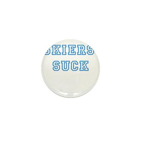 Skiers Suck Mini Button
