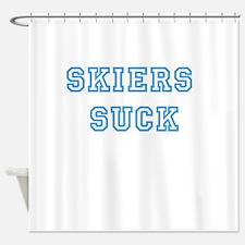 Skiers Suck Shower Curtain