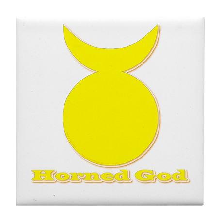 Horned God Tile Coaster