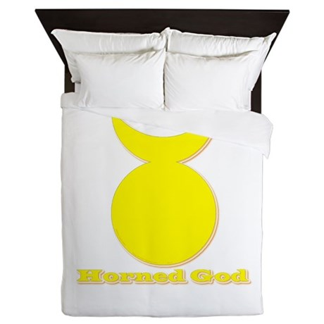 Horned God Queen Duvet