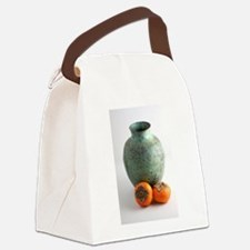 Persimmon with vase Canvas Lunch Bag