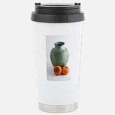 Persimmon with vase Stainless Steel Travel Mug
