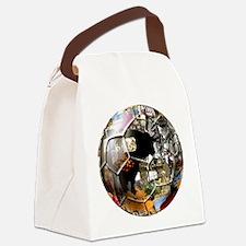 Spanish Culture Football Canvas Lunch Bag