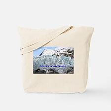 Alaska is Awesome: Portage Glacier, USA Tote Bag