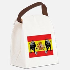 Spanish Football Bull Flag Canvas Lunch Bag