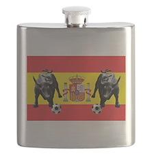 Spanish Football Bull Flag Flask