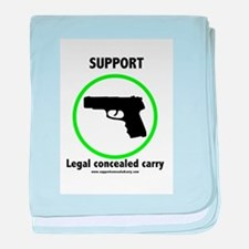 Support Legal Concealed Carry baby blanket