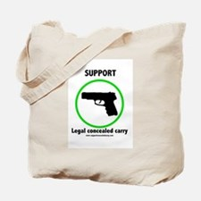 Support Legal Concealed Carry Tote Bag