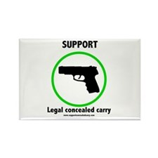 Support Legal Concealed Carry Rectangle Magnet