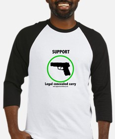 Support Legal Concealed Carry Baseball Jersey