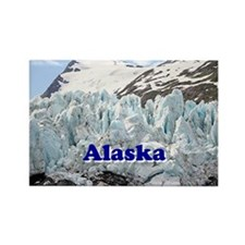 Alaska: Portage Glacier, USA Rectangle Magnet