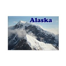 Alaska: Alaska Range, USA Rectangle Magnet
