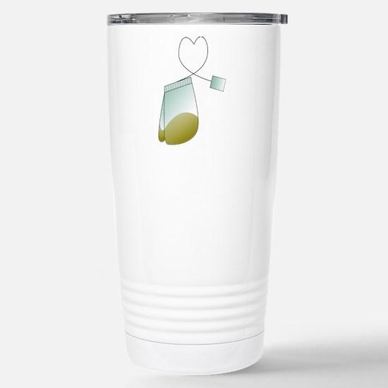 Tea Lovers Tea Bag Stainless Steel Travel Mug