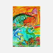 Mermaid Bliss Rectangle Magnet