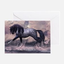 Birthday Greeting Card With Fantasy Horse