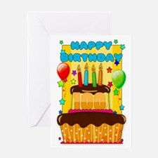 100th Birthday Greeting Card With Balloons And Cak
