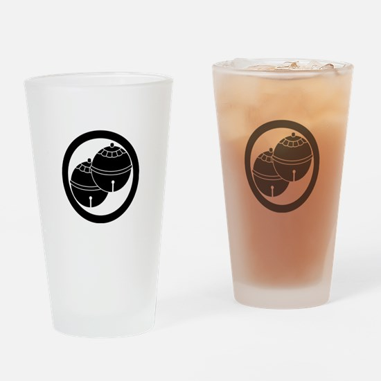 Two bells in circle Drinking Glass