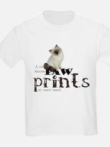 Brown / White Birman Cat T-Shirt