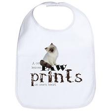 Brown / White Birman Cat Bib