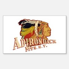 Adirondack Indian Sticker (Rectangle)