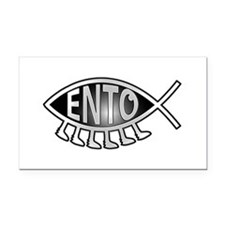 Ento Fish Rectangle Car Magnet