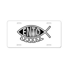 Ento Fish Aluminum License Plate