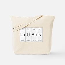 Lauren periodic table of elements Tote Bag