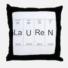 Lauren periodic table of elements Throw Pillow