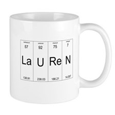 Lauren periodic table of elements Mug