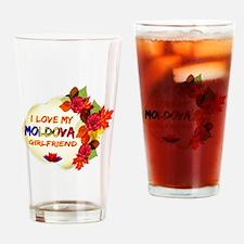 Moldova Girlfriend Valentine design Drinking Glass
