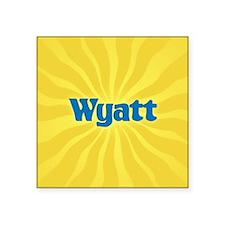"""Wyatt Sunburst Square Sticker 3"""" x 3"""""""