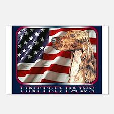 Irish Setter Flag USA Postcards(8)