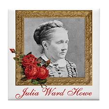 Julia Ward Howe Tile Coaster