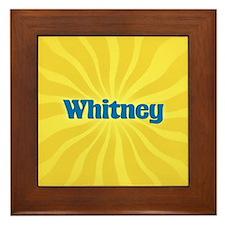 Whitney Sunburst Framed Tile