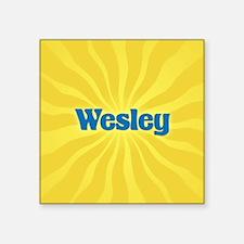 "Wesley Sunburst Square Sticker 3"" x 3"""