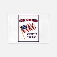 ANTI-SOCIALIST 5'x7'Area Rug