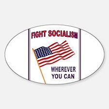 ANTI-SOCIALIST Sticker (Oval)