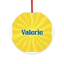 Valerie Sunburst Ornament (Round)