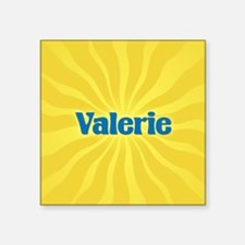 "Valerie Sunburst Square Sticker 3"" x 3"""