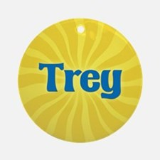 Trey Sunburst Ornament (Round)