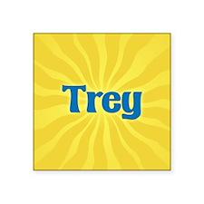 "Trey Sunburst Square Sticker 3"" x 3"""