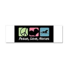 Cute Quarter horse racing Car Magnet 10 x 3