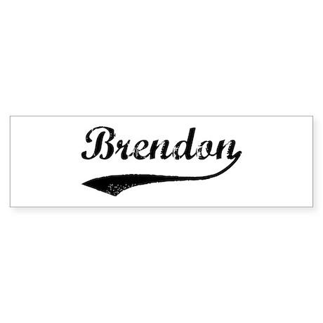 Vintage: Brendon Bumper Sticker