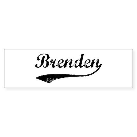 Vintage: Brenden Bumper Sticker