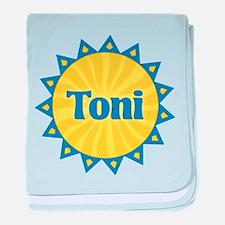 Toni Sunburst baby blanket