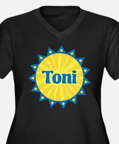 Toni Sunburst Women's Plus Size V-Neck Dark T-Shir